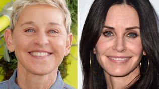 Ellen is living with Courteney Cox.