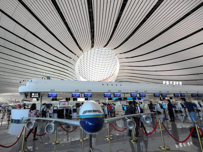 It is expected to become one of the busiest airports in the world. Picture: STR/AFP