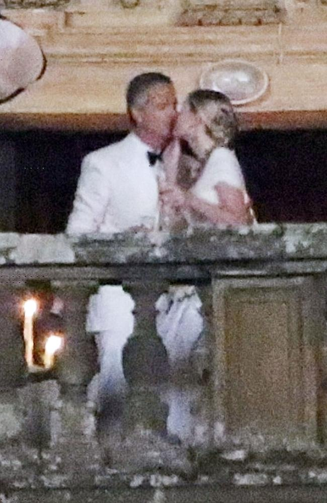 Lady Kitty and her husband Michael Lewis at Villa Aldobrandini in Frascati, Italy, where they exchanged I dos. Picture: Backgrid
