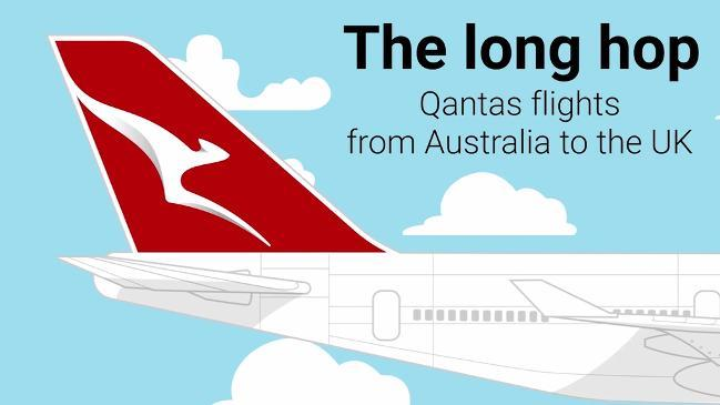 History of Qantas flights from Australia to UK