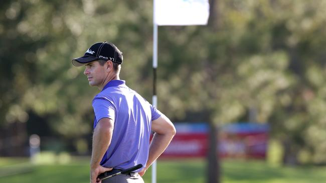Joint leader Scott Strange approaches the 9th during the second round of the Australian PGA.