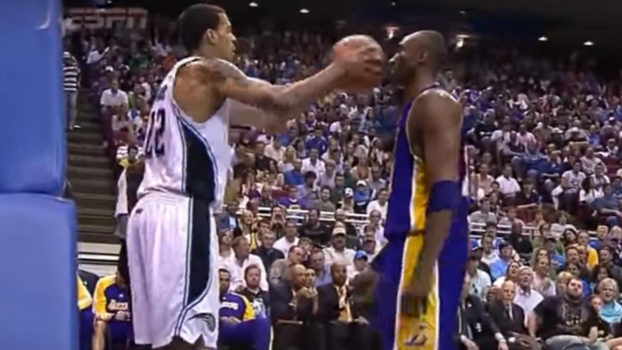 Everything you thought you knew about Kobe Bryant's ice cold refusal to flinch a Matt Barnes inbound attempt is wrong.
