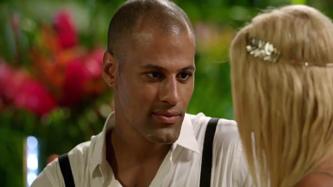US reality TV star Grant Kemp on Bachelor In Paradise. Picture: Channel 10