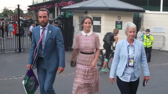 Pippa Middleton and James Middleton Leaving Wimbledon Tennis Club In London