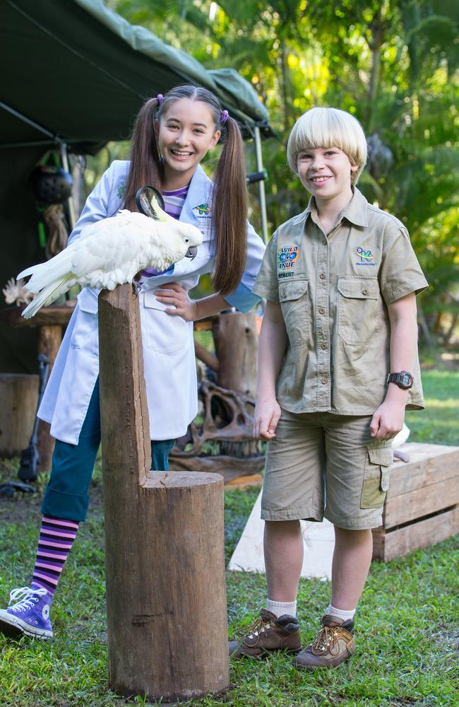 Wild But True hosts Robert Irwin and Isabel Yamazaki. Picture: Discovery Networks Asia-Pacific