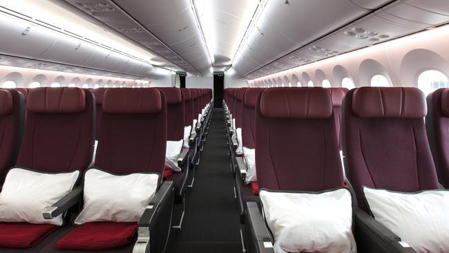 The economy cabin. Supplied: Qantas