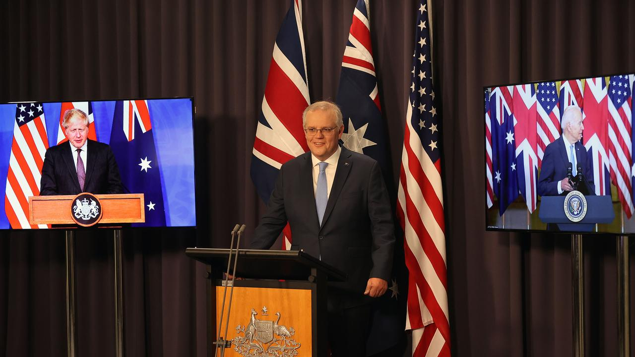 Furore over the AUKUS security pact has created shockwaves across Australia's allies. Picture: NCA NewsWire/Gary Ramage