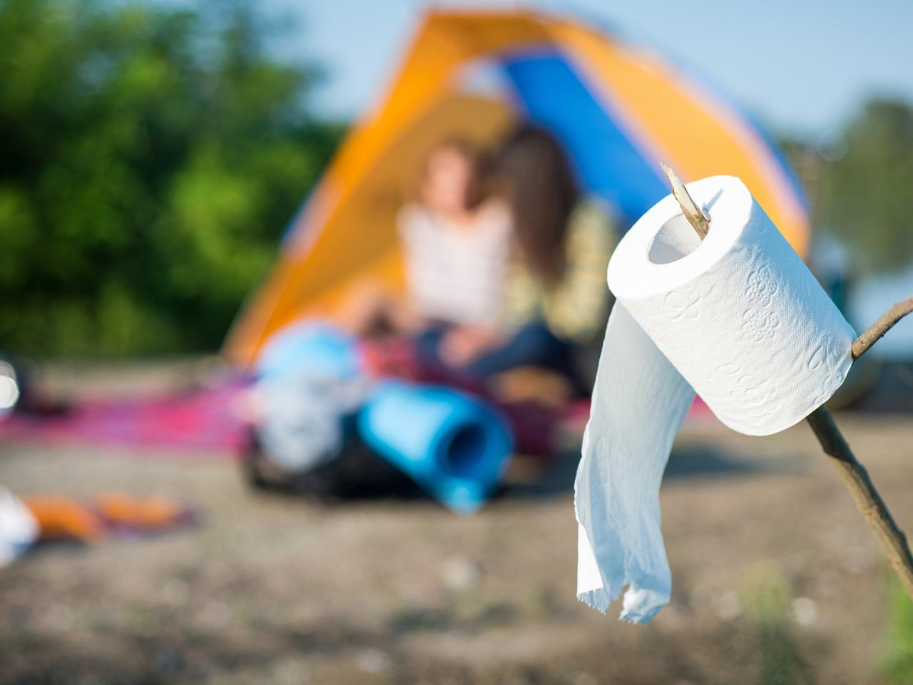 Camping: toilet paper