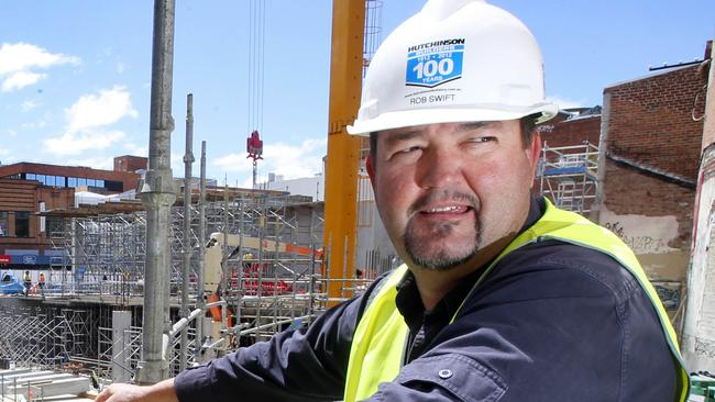 Myer site is no longer just a hole in the ground, picture of Site supervisor Rob Swift.