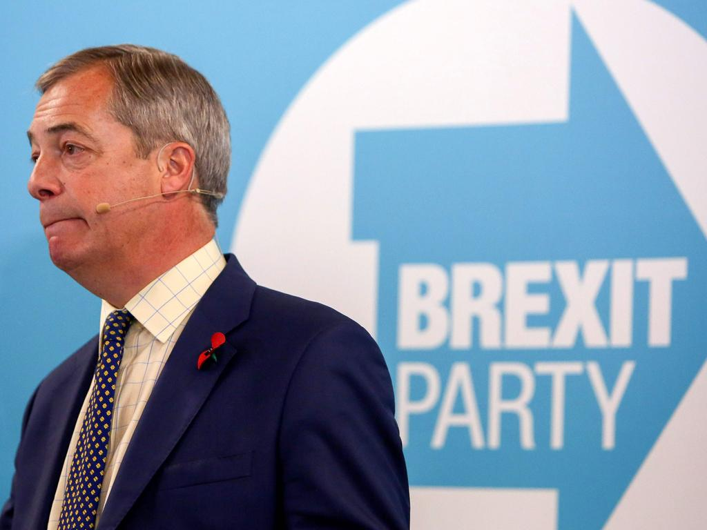 Brexit Party leader Nigel Farage is not expected to win any seats. Picture: AFP