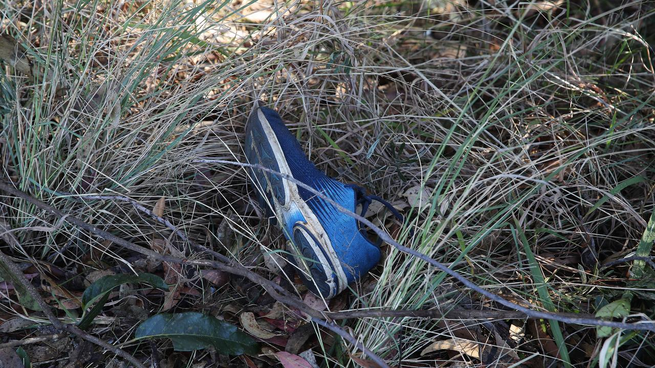 A shoe left behind at the scene of the crash. Picture: NCA NewsWire / David Swift