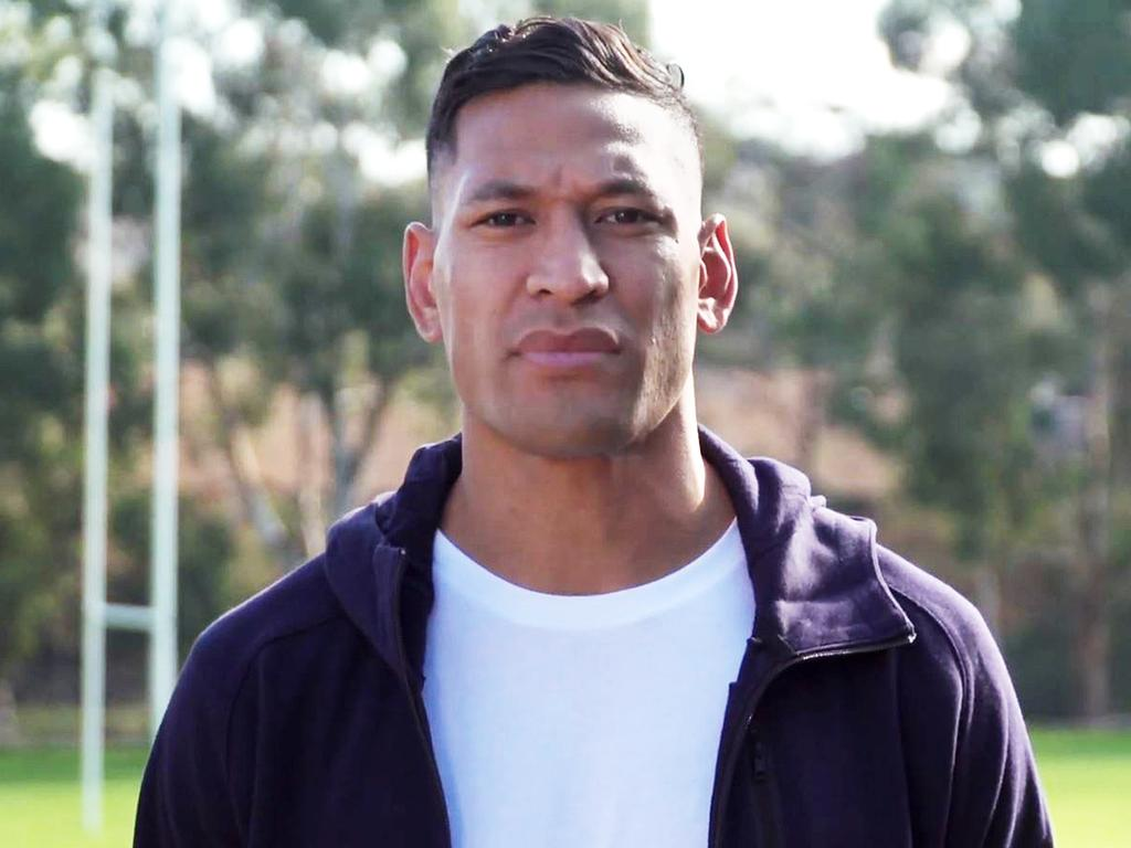 Israel Folau asking for donations to fund his legal fees.