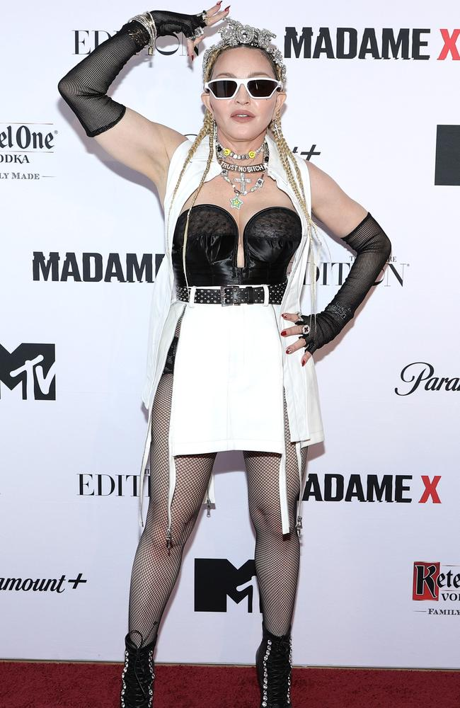 Madonna hit the red carpet in true Madonna fashion. Picture: Jamie McCarthy/Getty Images for Ketel One Vodka
