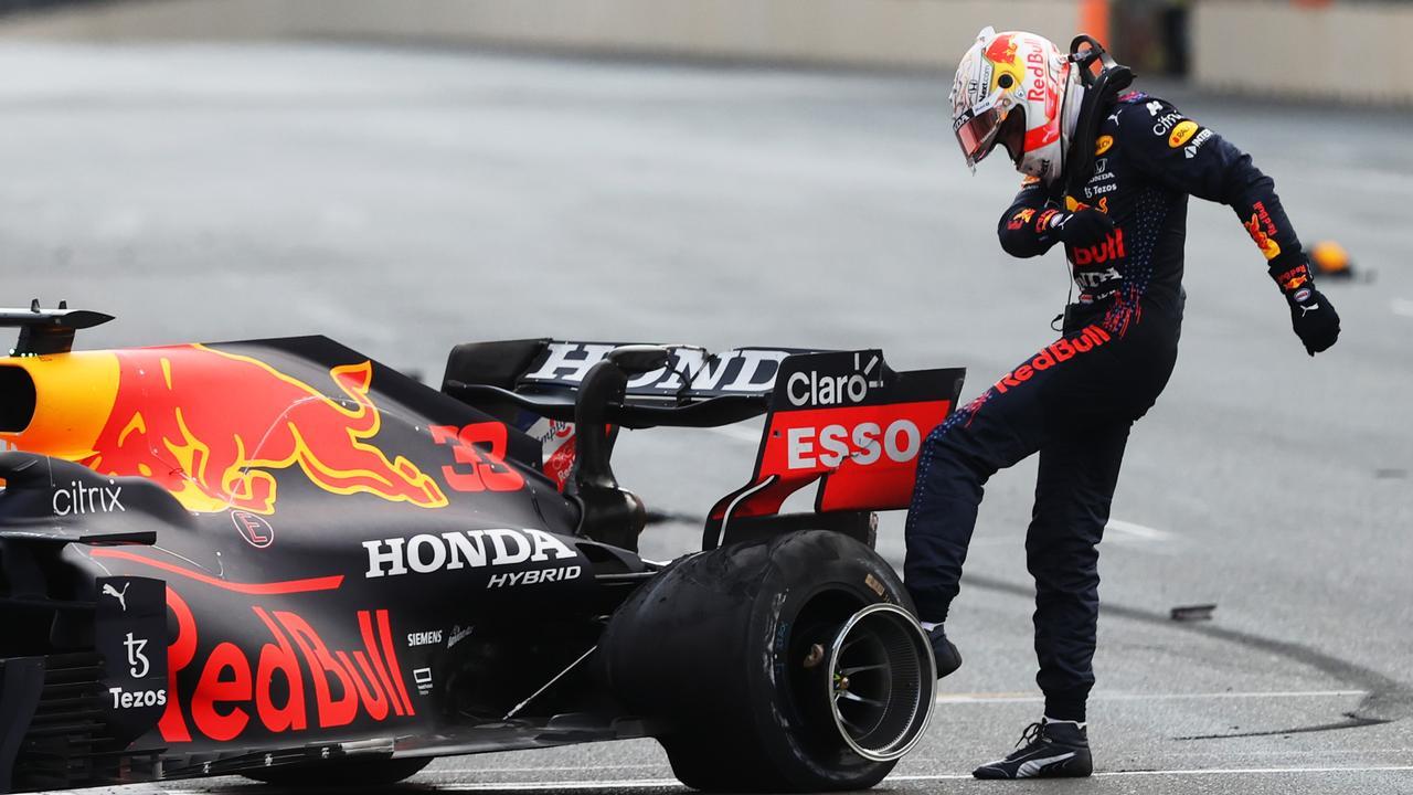 Verstappen after crashing out in Baku.