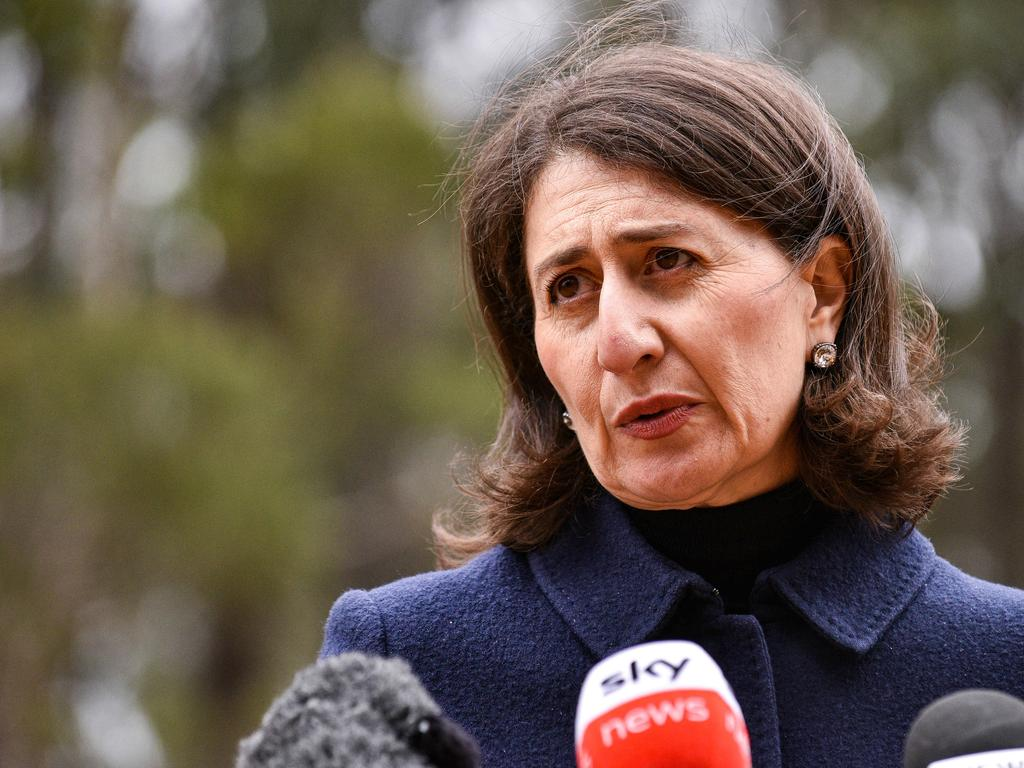 Gladys Berejiklian said NSW was expected to reach 60 per double-dosed within the next 24 hours. Picture: NCA NewsWire / Flavio Brancaleone