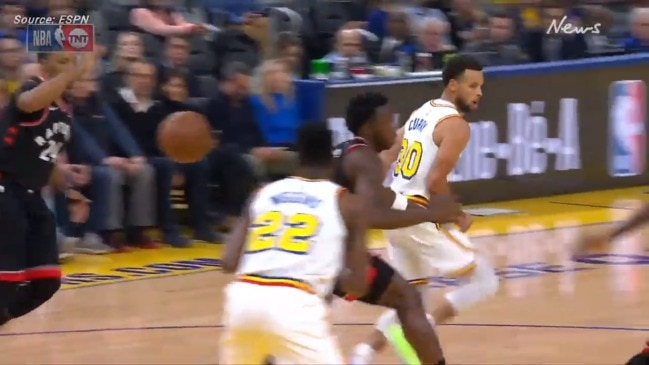 Steph Curry's filthy assist on return from injury
