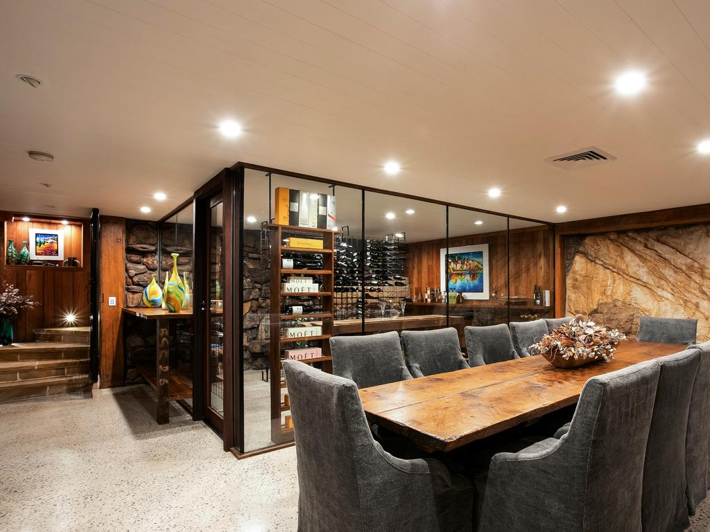 """There is a """"lodge room"""" beside the wine cellar."""