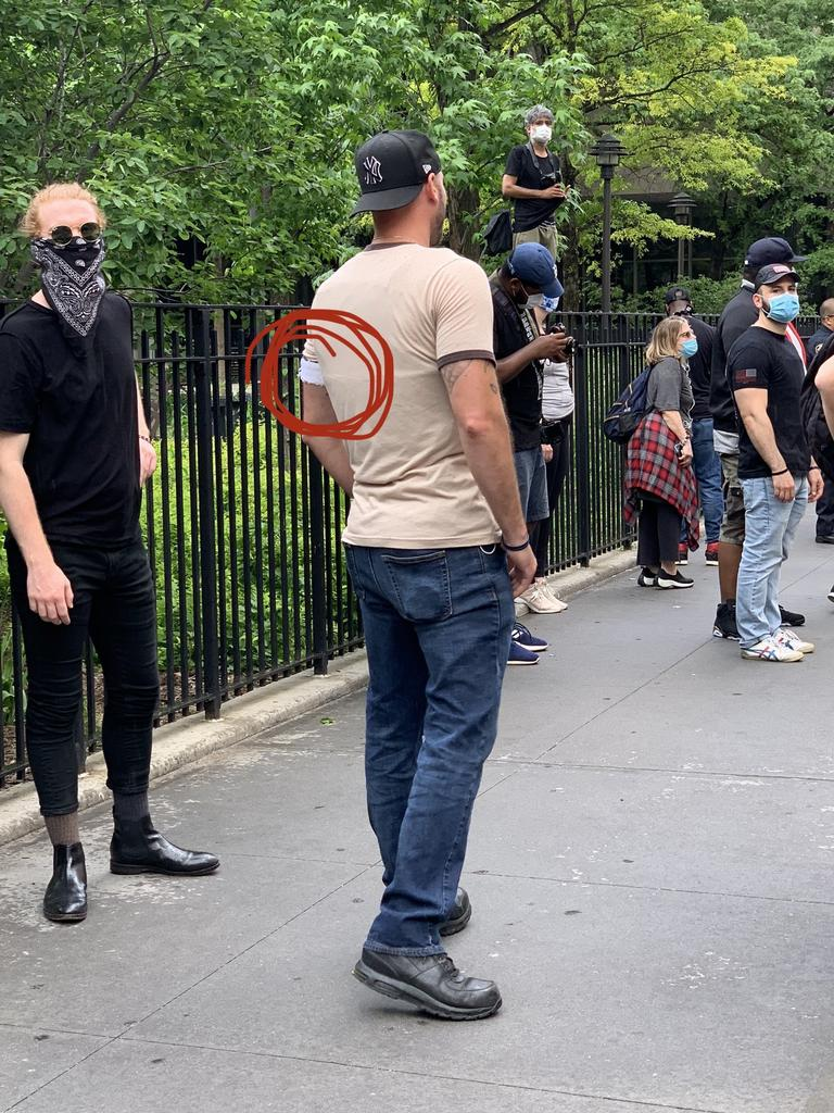 A suspected cop in a New York City protest.