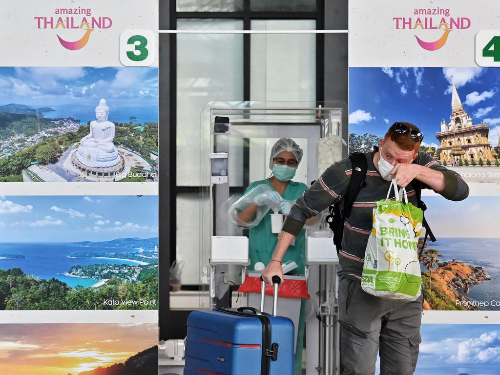 Travellers flying into Thailand are required to have a Covid-19 test upon arrival. Photo: Lillian Suwanrumpha