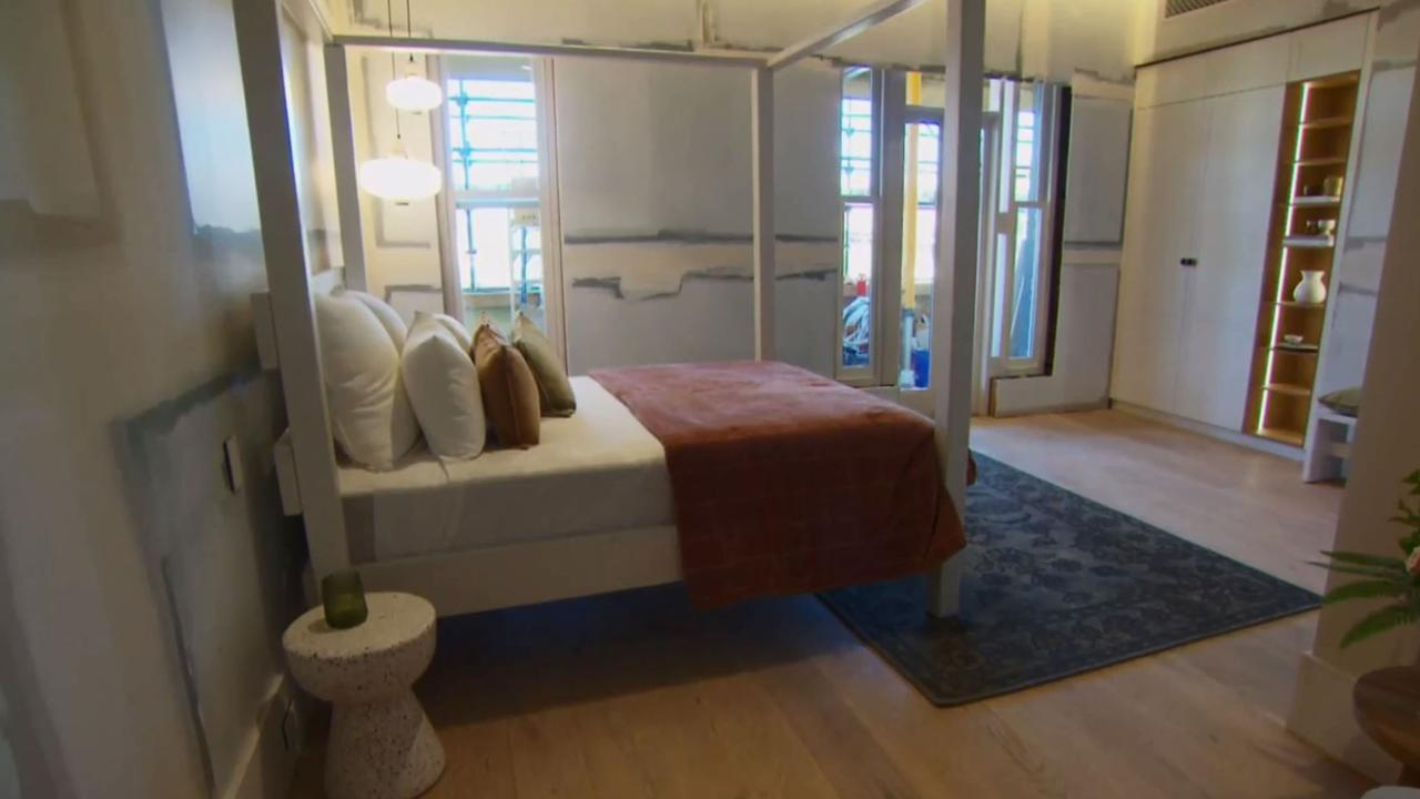 Andy and Deb had a very 'beachy' vibe with their room, and the judges wanted them to ditch that style and go for glamour. Picture: The Block