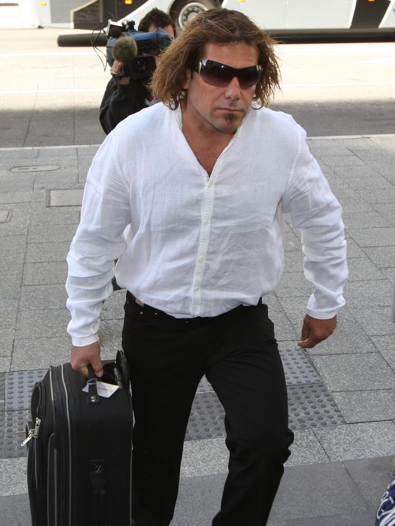 Troy Mercanti arrives at a Perth Court.