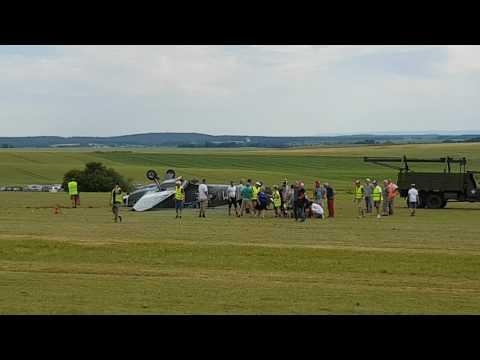 FRANCE:    Spitfire Flips Over as It Fails to Take Off at Air Show   June 11  DRAMATIC