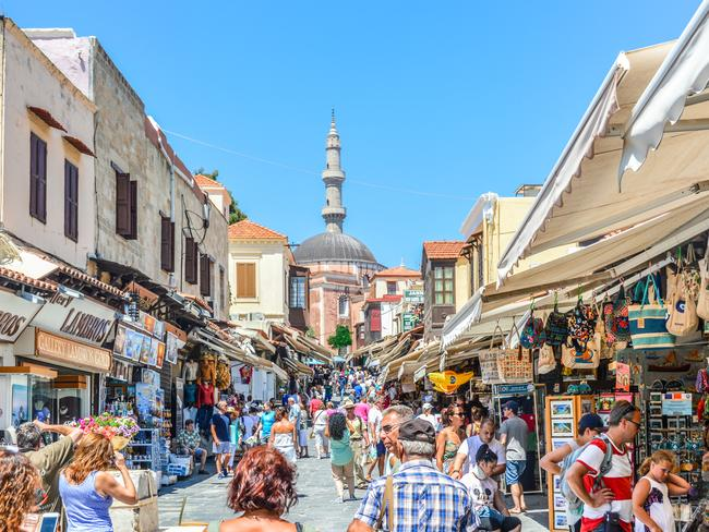 RHODES TOWN: The town, located close to Turkey, is top tourist attraction surrounded by ancient fortification. Picture: iStock