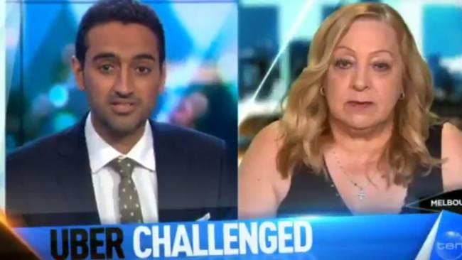 Waleed Aly interviewed Sandy Spanos on Tuesday. Picture: The Project.