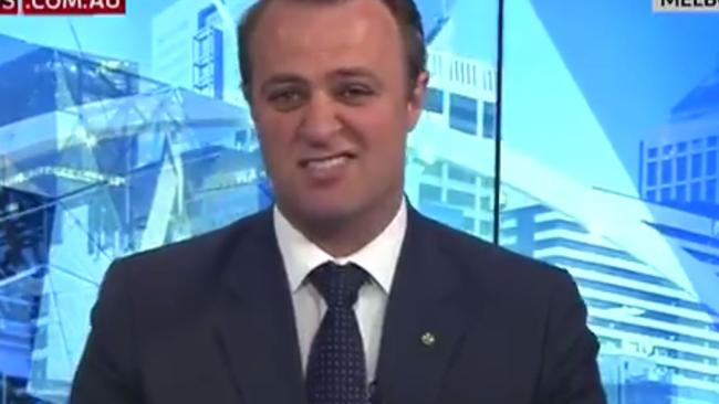 """Liberal MP Tim Wilson's interview cut brutally short on Sky News. Picture: Sky News/Supplied                         <a capiid=""""62c5a0fd3200b7af45aa886c88539a53"""" class=""""capi-video"""">Tim Wilson's 29 second interview</a>"""