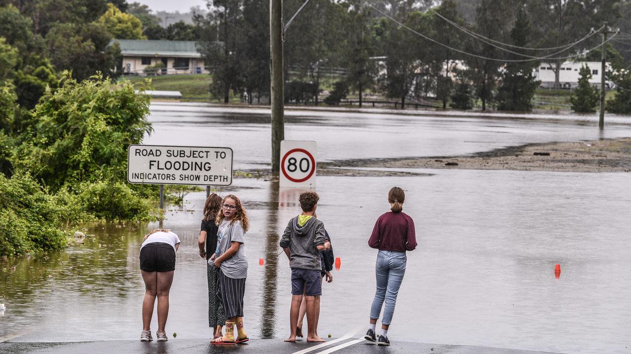 Flooding at Pitt Town. Picture: NCA NewsWire/Flavio Brancaleone