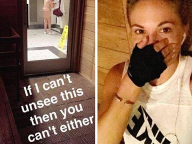 Dani Mathers' offending Shapchat post.