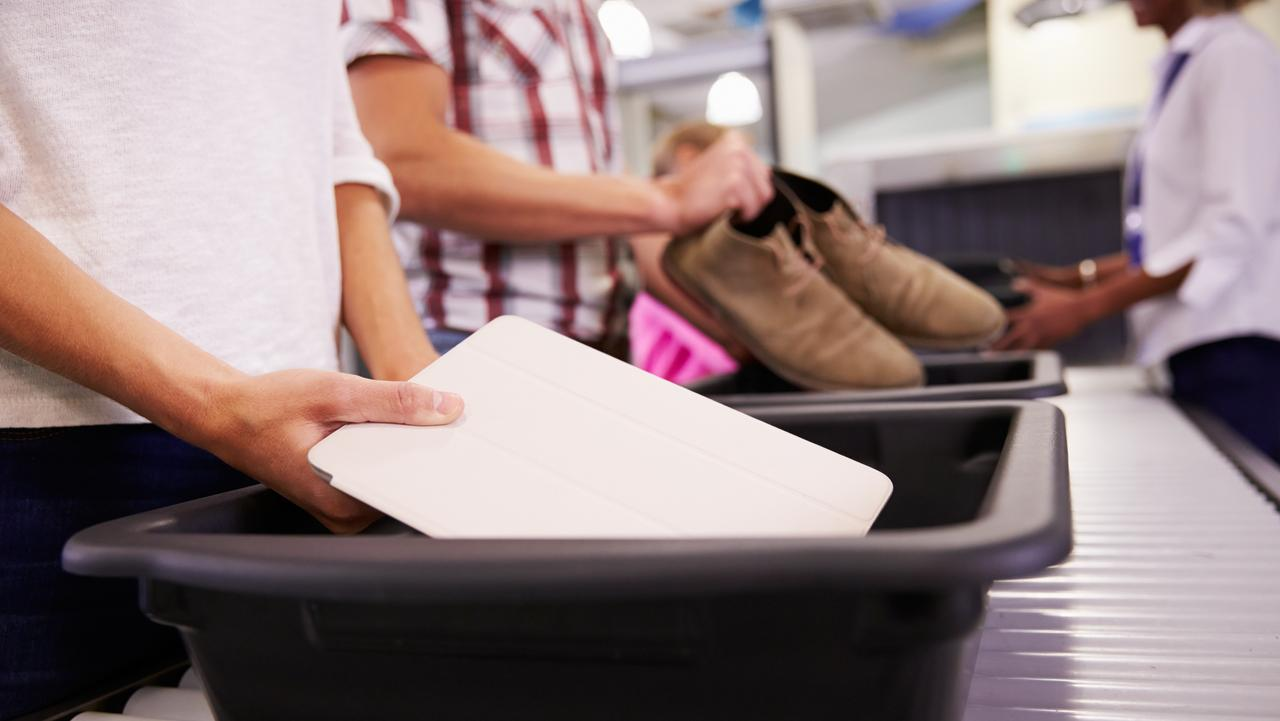 Don't forget your laptop, glasses and belt on the way through security screening.