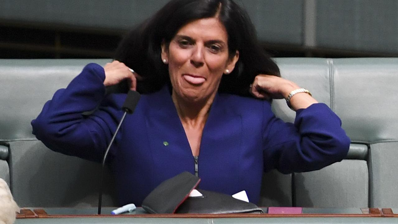 Julia Banks settles into her new seat. Picture: AAP Image/Lukas Coch