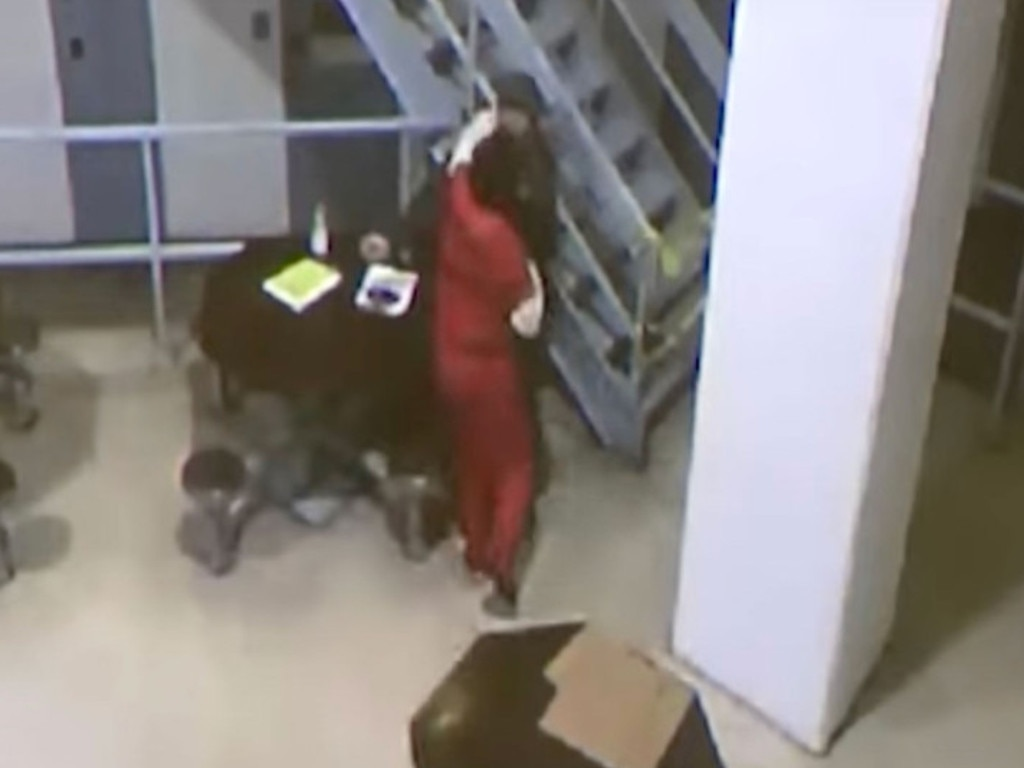 New surveillance footage shows school shooter, Nikolas Cruz, attacking his guard on November 13, 2018. Picture: YouTube/Law & Crime Network