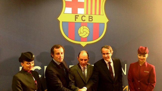6ff59ee6540 Barcelona sign shirt sponsorship deal with Qatar Airways worth  45m a year