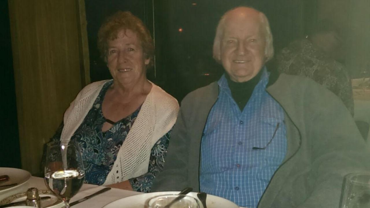 Bernard Gore and his wife Angela a few months before he died.