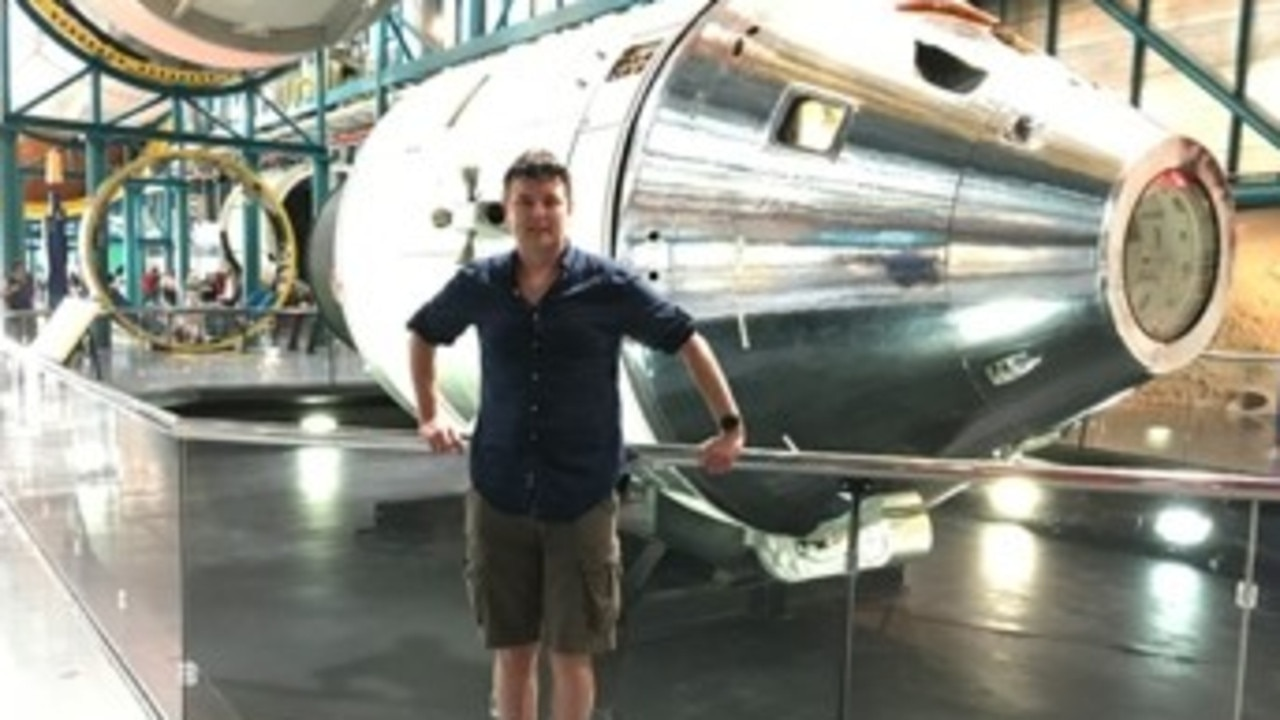 The father of three could be on a space flight within 12 months. Picture: Virgin Australia