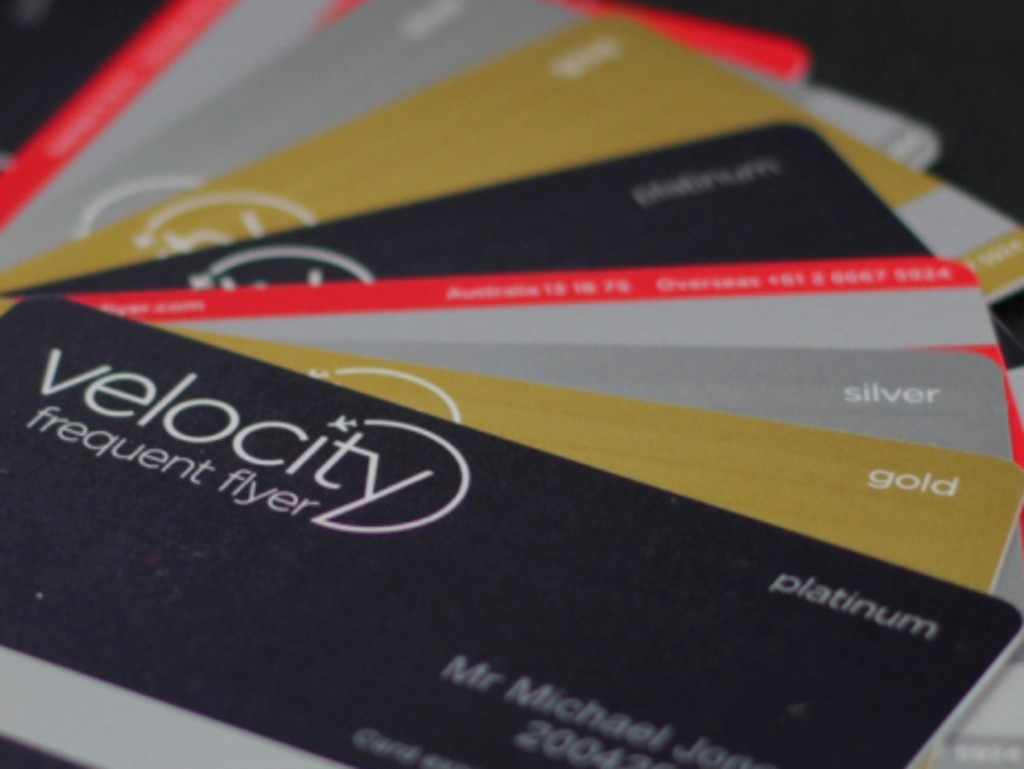 Virgin Frequent Flyer Velocity cards.