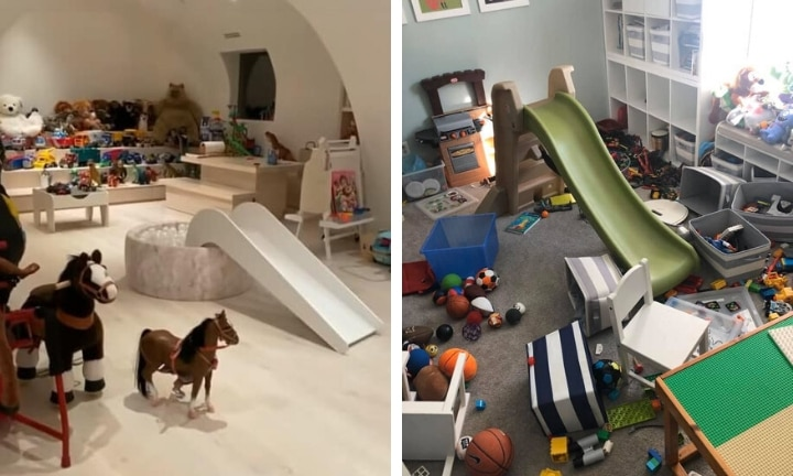 Parents are sharing their trashed playrooms