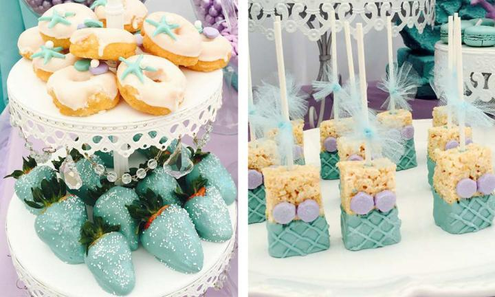 It's decided. Mermaid-themed party food is the cutest thing ever