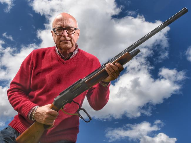 You need a licence and permit to get a five-shot Adler, or any other gun, in Australia. Picture: Tony Gough