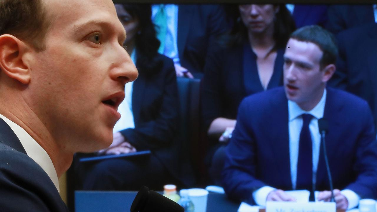 Facebook founder Mark Zuckerberg fronted Congress in 2018. Picture: Chip Somodevilla/Getty Images/AFP
