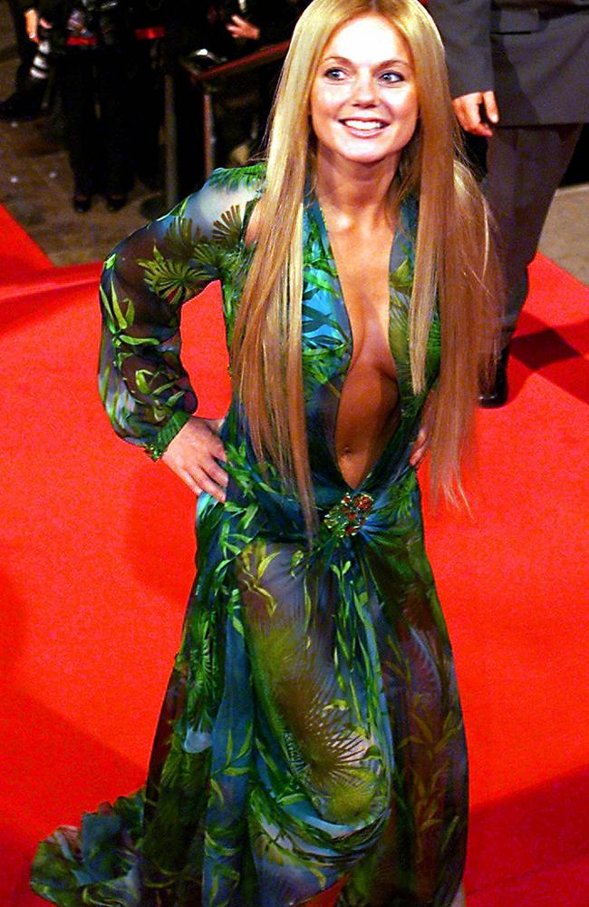 Geri Halliwell in the same Versace dress in January, 2000.