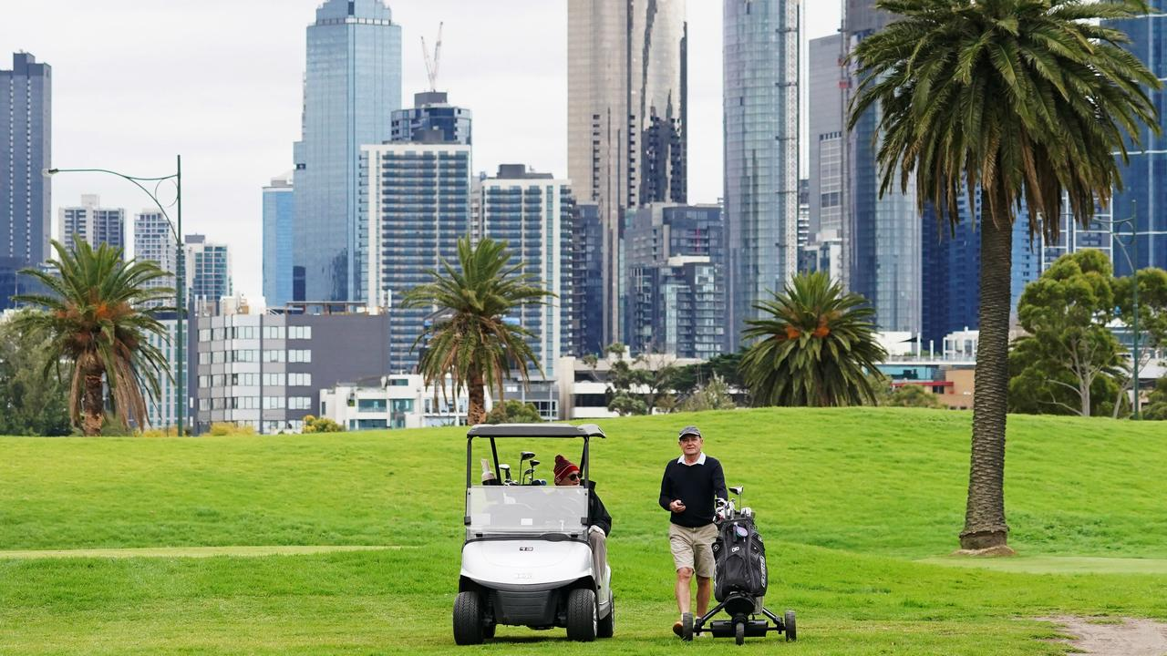 Keen golfers will now be able to hit the course. Picture: Michael Dodge/AAP