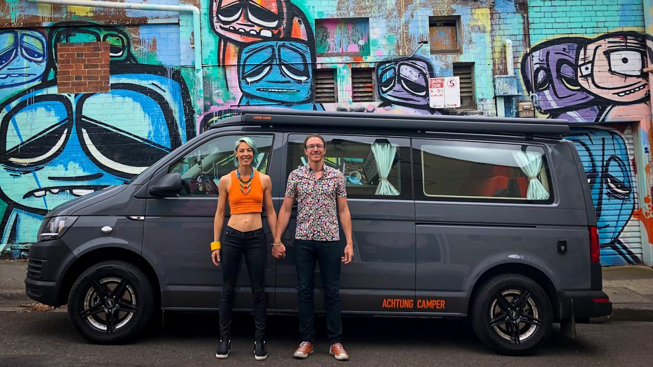Achtung Camperfounders Ronny Probandt and Tania Differding. Picture: Supplied