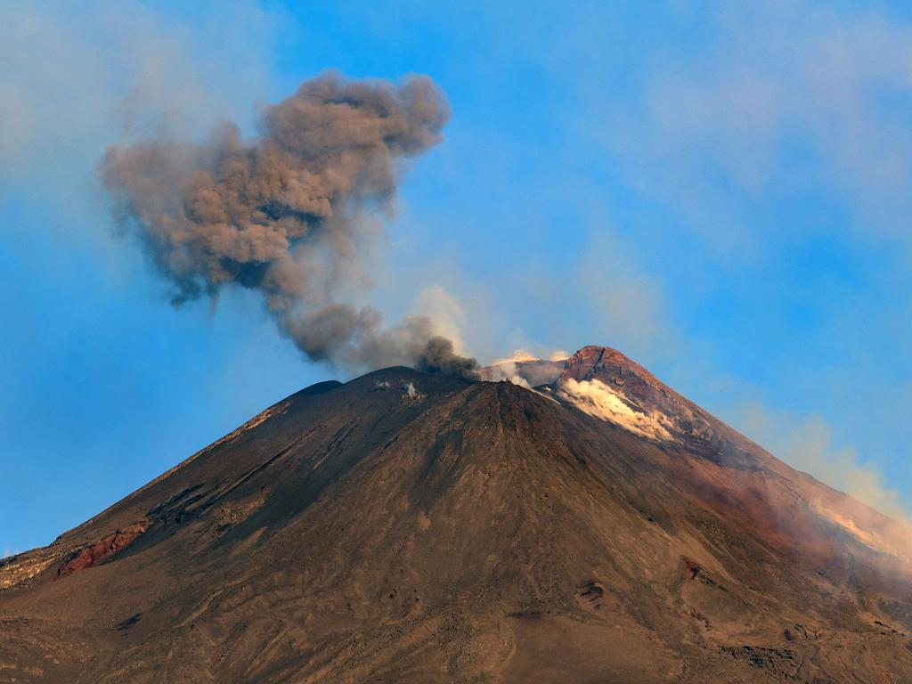 Sicily's Mt Etna also recently erupted. Picture: AP