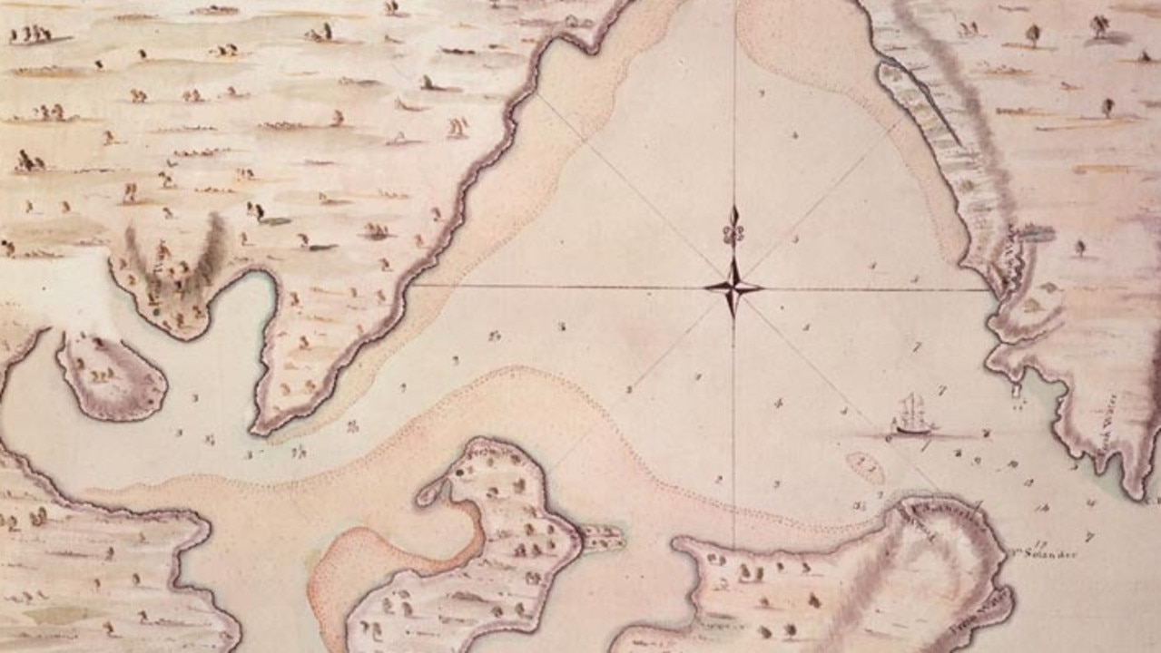 Part of a map of Botany Bay included in Cook's journal of the Endeavour voyage. Source: State Library NSW
