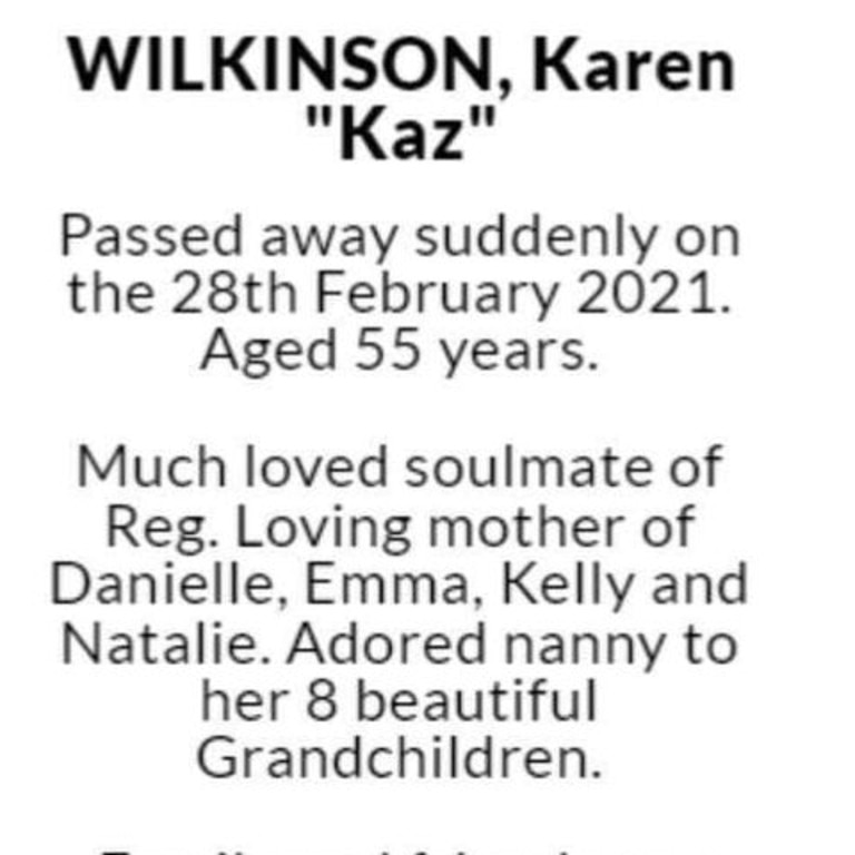 """Also on Facebook was a tribute to Kelly's mother Karen who – according to the post – died """"suddenly"""" just two months ago. Picture: Facebook"""
