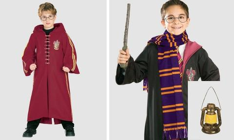 <b>HARRY POTTER.</b>  This enchanting Gryffindor Quidditch Deluxe Robe (left) is guaranteed to ignite the wizard from within. You can also add a little flare with a Harry Potter scarf and lantern (sold separately). <i>Robe $49.95, Scarf $22.95, Lantern $22.95.</i>