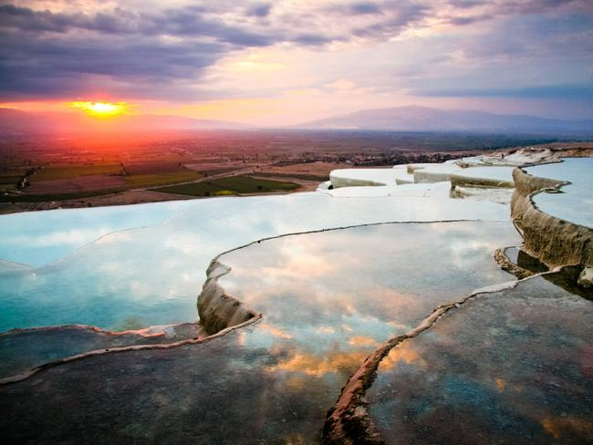 Pamukkale, Denizli Province, Turkey - World Heritage listed natural hot water pools. Picture: Jennifer E. Hayes/Getty Images SEE MORE:  World's best natural swimming holes